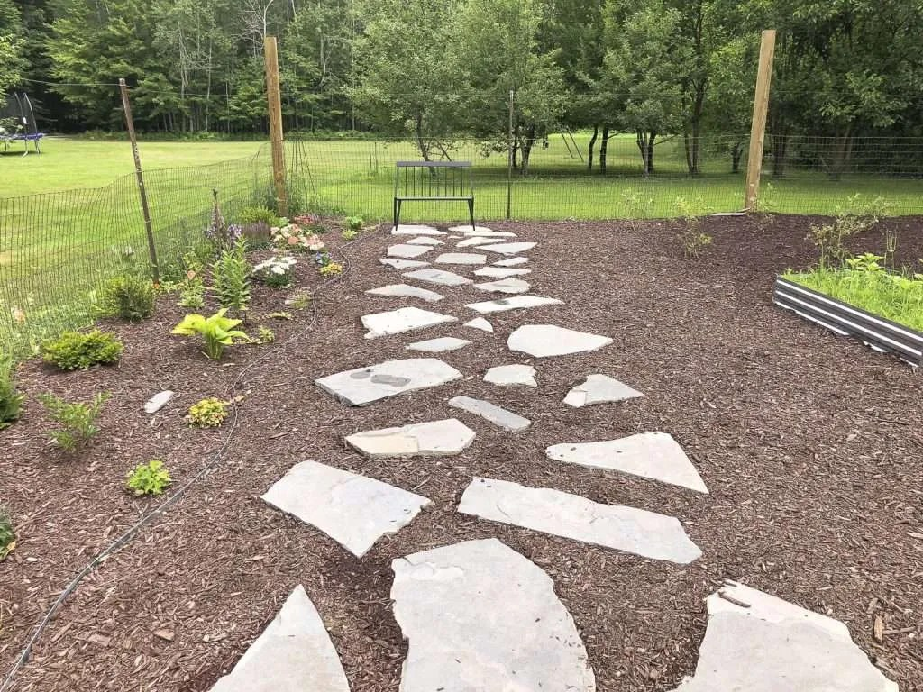 how to lay a flagstone pathway grace