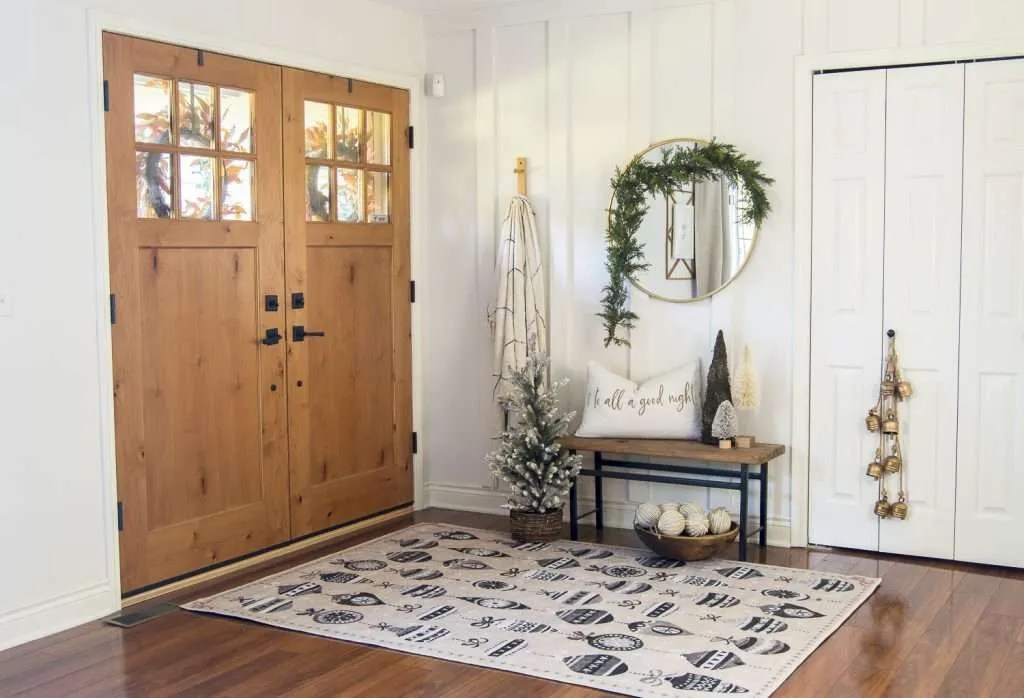 Festive rug. 6 Winter Decor Ideas for Refreshing Your Home This Season
