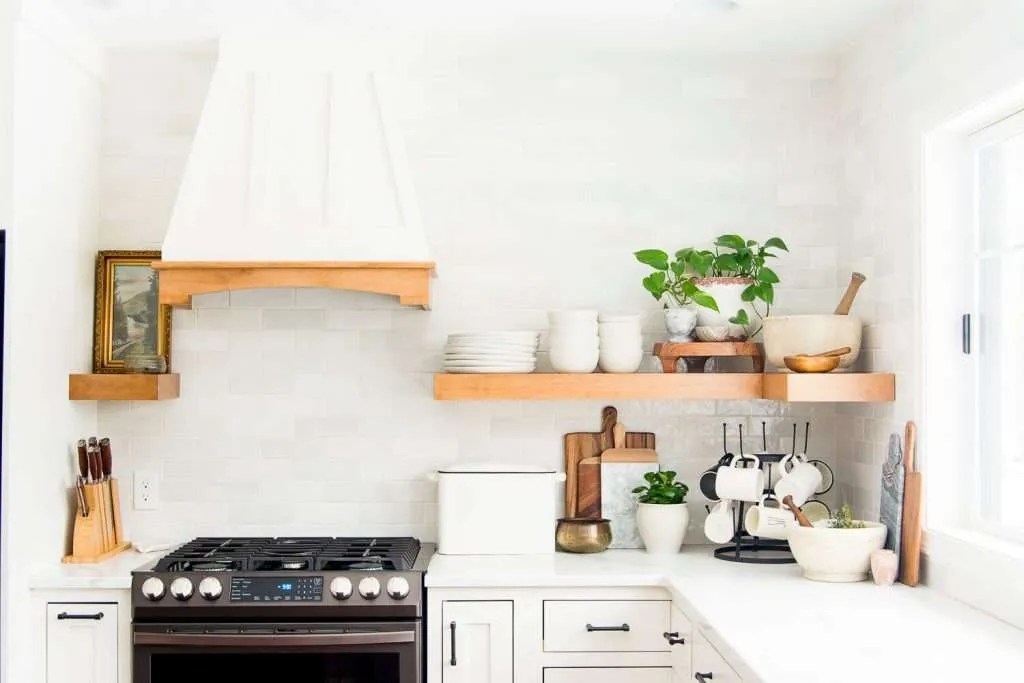 15 Pros Cons Of Floating Kitchen Shelves Vs Cabinets In 2021 Grace In My Space