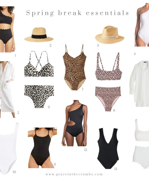 Spring break essentials - swimsuits
