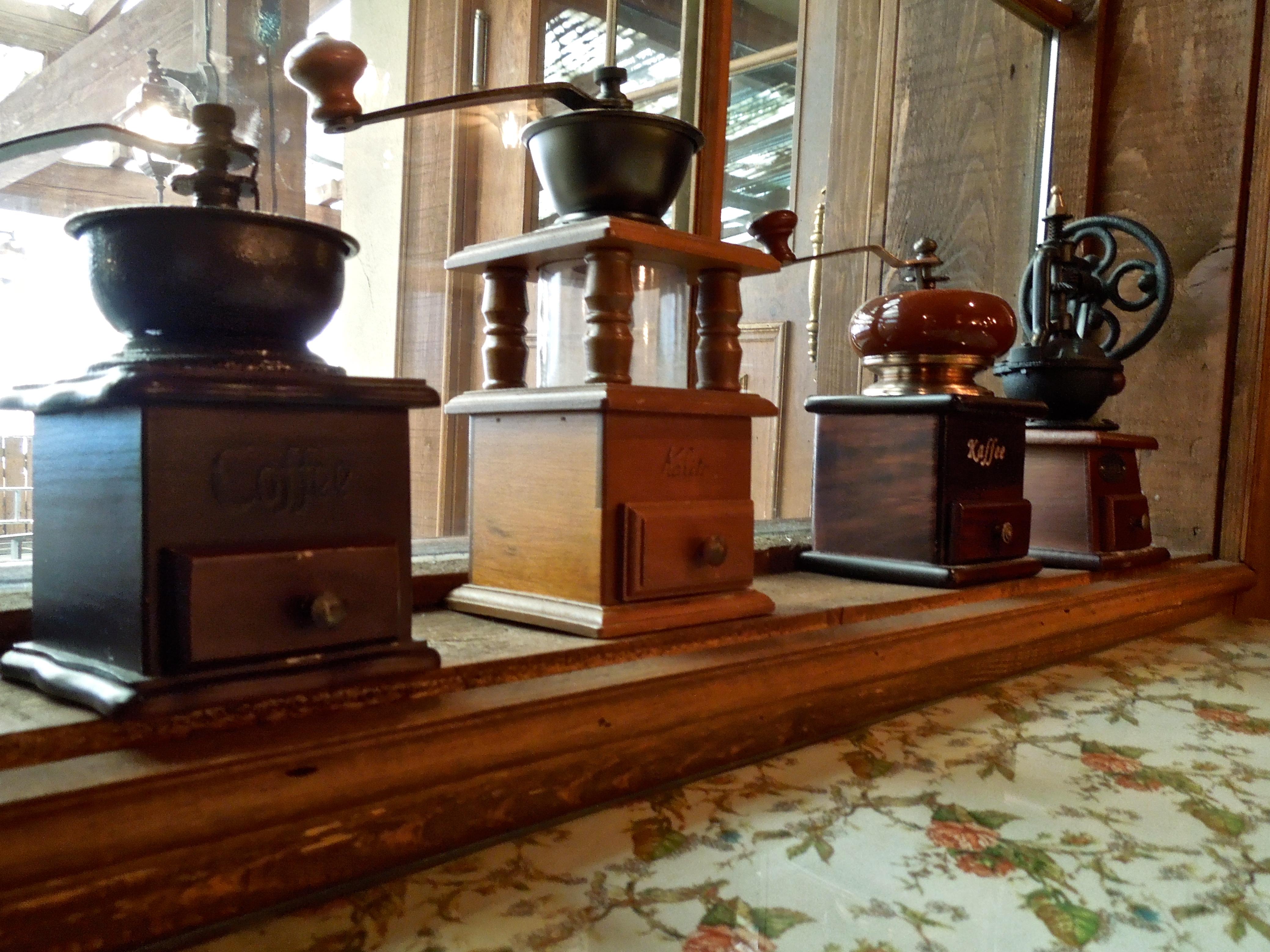 vintage coffee grinder decor tasty