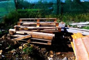 pallets illustrating an article about growing a permaculture garden