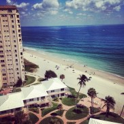 The view I had every morning, when visiting a friend--Boca Raton, Florida.
