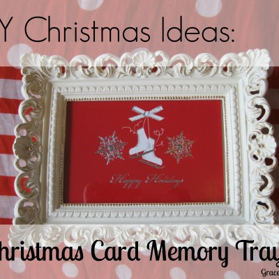 DIY Christmas Card Tray (Christmas DIY Link Up)