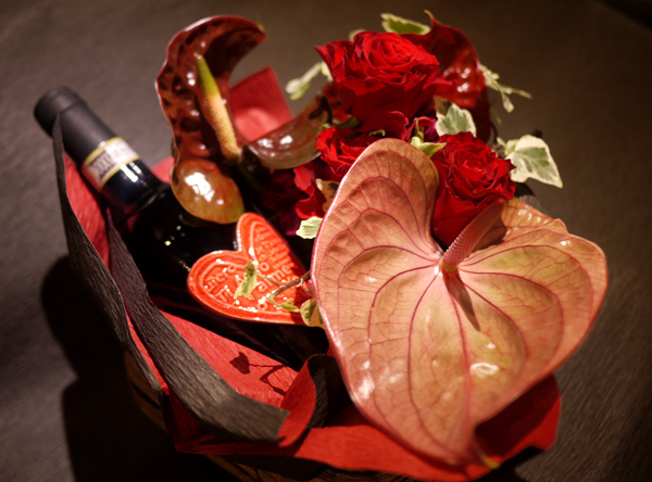 バレンタイン 赤ワイン