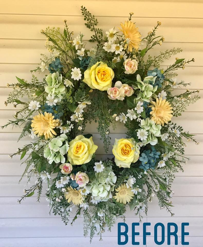 How To Give an Old Wreath New Life
