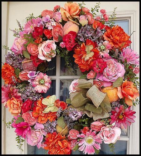 Peach Blossom Summer Wreath