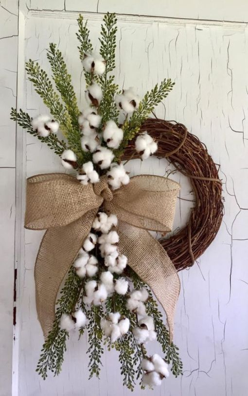 preserved cotton wreath