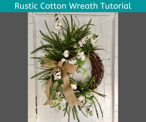 Step by step cotton wreath tutorial