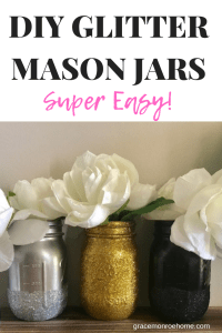 DIY Glitter Mason Jar - Easy Mason Jar Craft Ideas