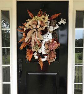 Scarecrow wreath for fall