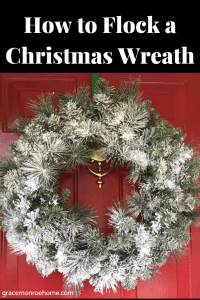 Learn to Snow Flock Your Own Christmas Tree of Christmas Wreath