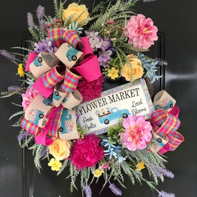 How to Make a Spring Wreath Tutorial