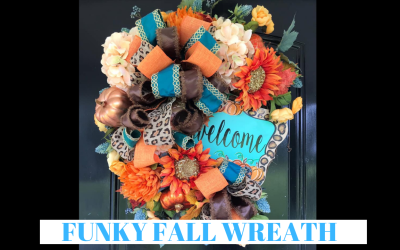 Funky Fall Wreath Tutorial