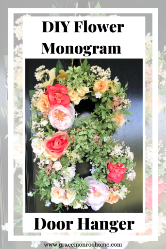How to Make a Floral Monogram Door Hanger