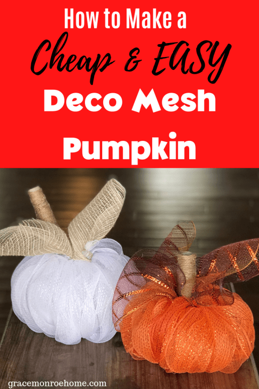 Easy DIY Deco Mesh Pumpkins