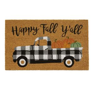 Happy Fall Y'all Truck Rug