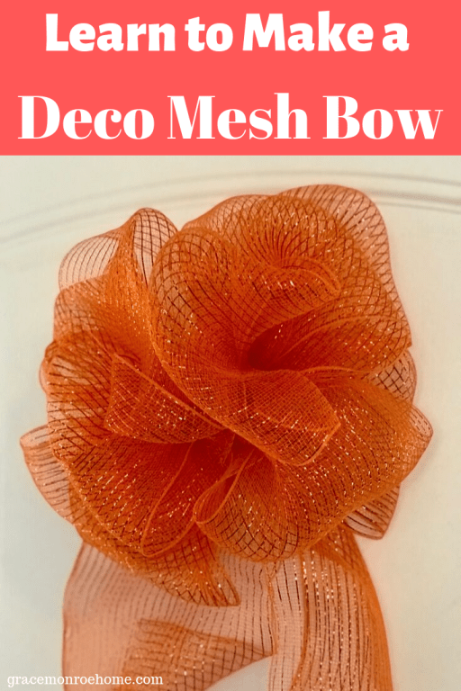 How to Make an Easy Deco Mesh Bow