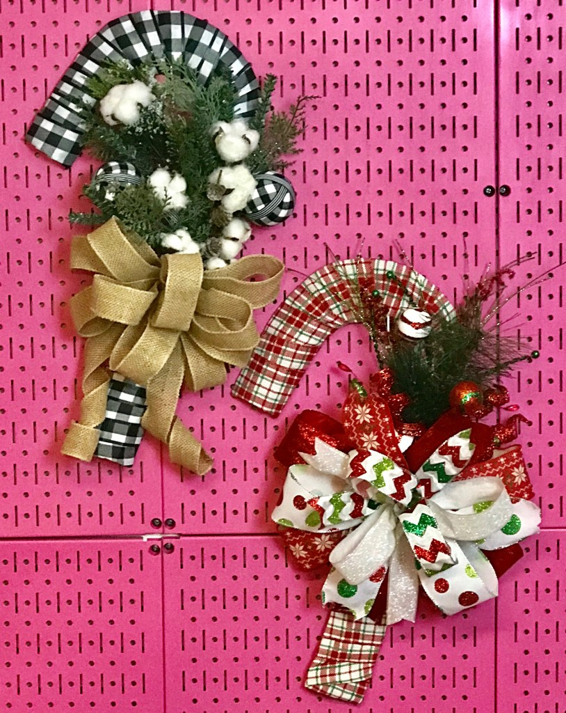 How to Make a Candy Cane Wreath with Dollar Tree Wreath Form