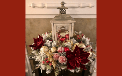 DIY Christmas Lantern Centerpiece