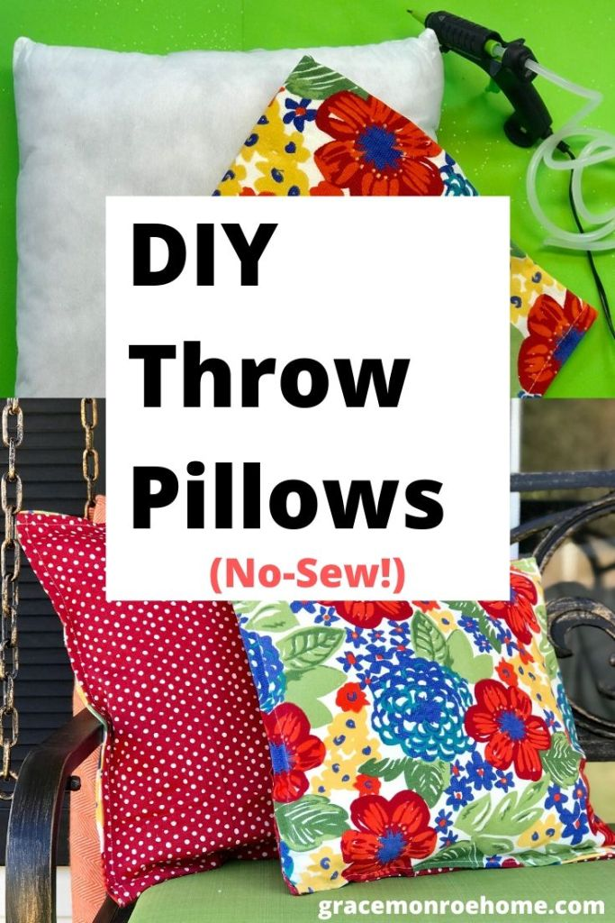 How to Make DIY Throw Pillows - So Easy!  #diy #crafts #hacks #pillows #diyhomedecor