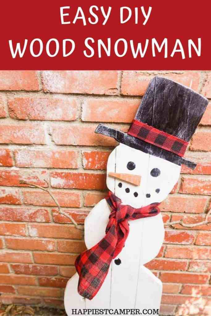 Easy DIY Wood Snowman and Tons of Other Fun Christmas Crafts to Make!