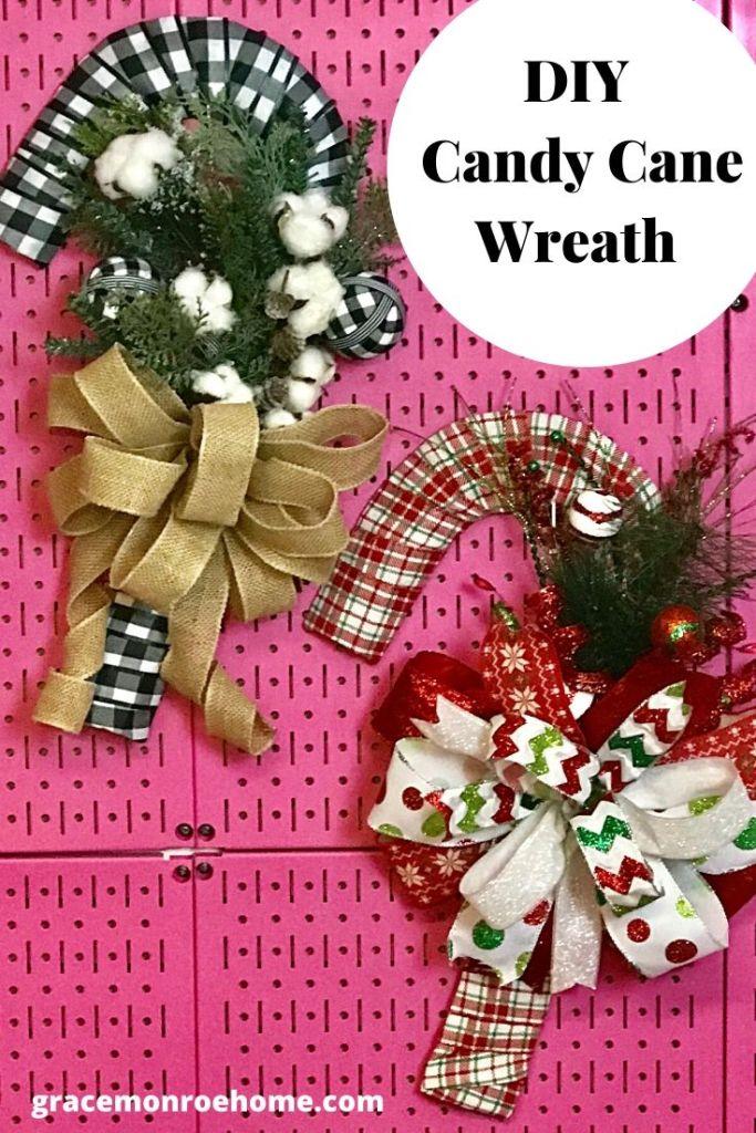 Easy DIY Candy Cane Wreath