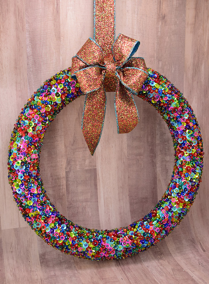 How to Make a Bead & Sequin Wreath
