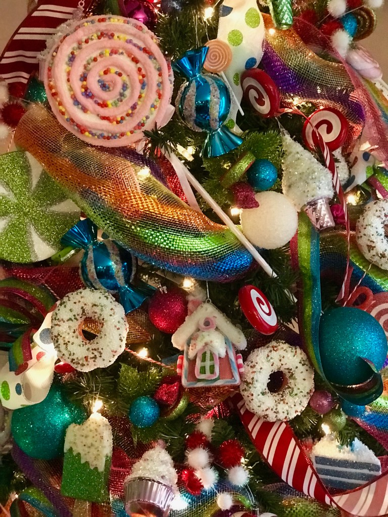 How to Decorate a Candy Themed Christmas Tree
