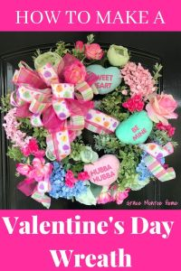 "How to Make a Valentine's Day Wreath with the cutest Conversation ""Candy"" hearts!"