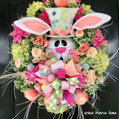 Luxury Easter Wreath with Bunny