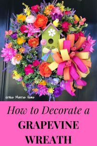 How to Make a Grapevine Wreath with Birdhouse