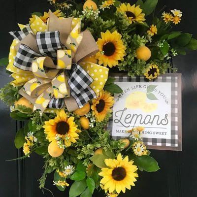 Lemon and Sunflower Wreath