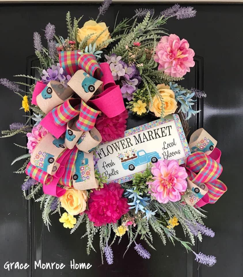 How to Make a Spring Wreath for Your Front Door