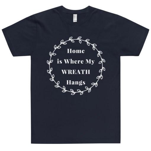Navy Wreath T-Shirt for Women