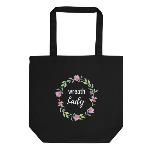 Black Wreath Lady Bag