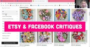 Facebook and Etsy Shop Critiques