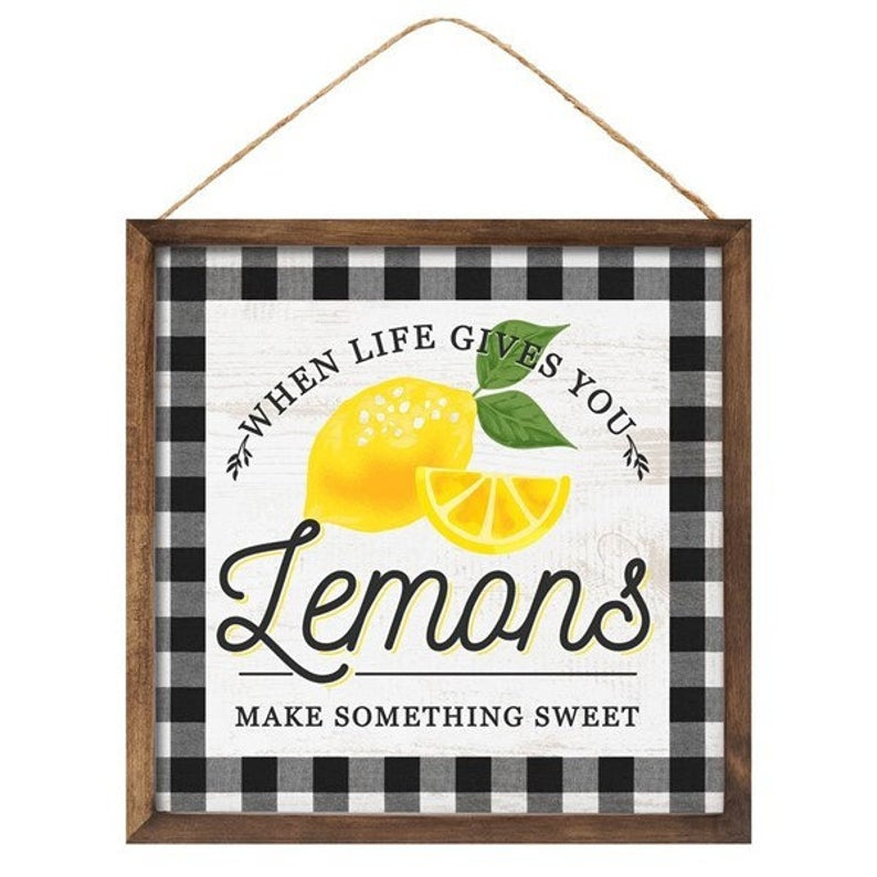 Lemon Decor Sign for Wreath