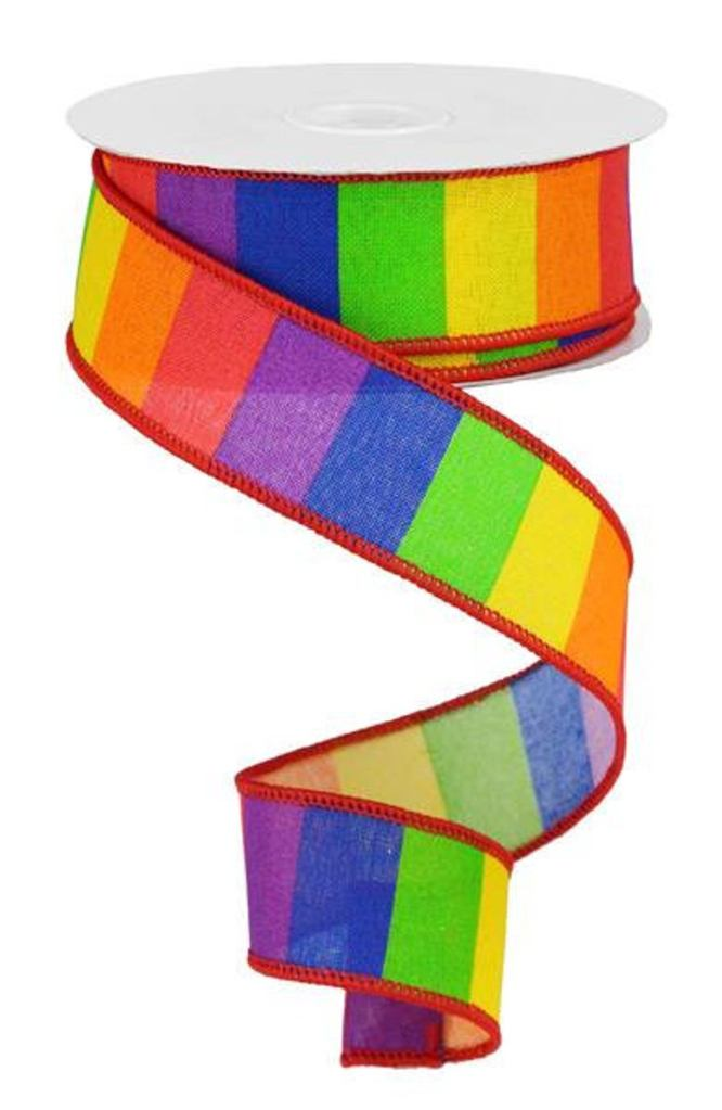 Rainbow Striped Ribbon
