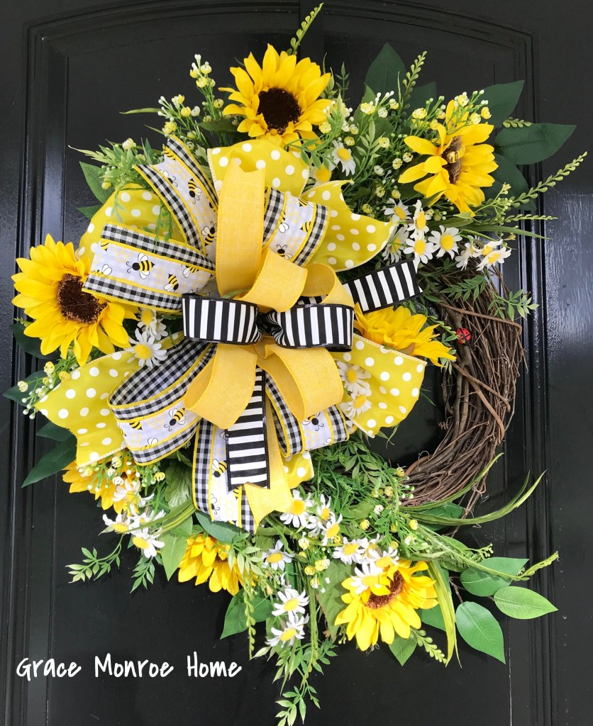 How to Make a Sunflower Wreath for Your Front Door!