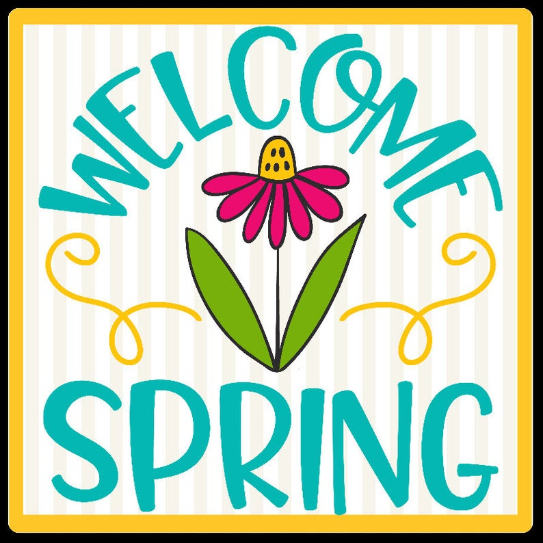 Welcome Spring Wreath Sign