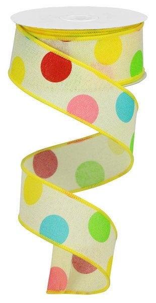 Bright Polka Dot Ribbon