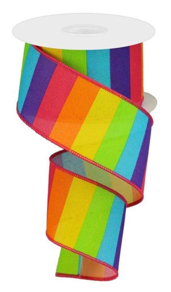 Rainbow Striped Summer Ribbon