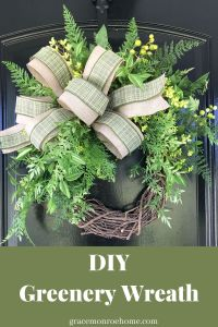 How to Make a Greenery Wreath - Farmhouse Style Decor