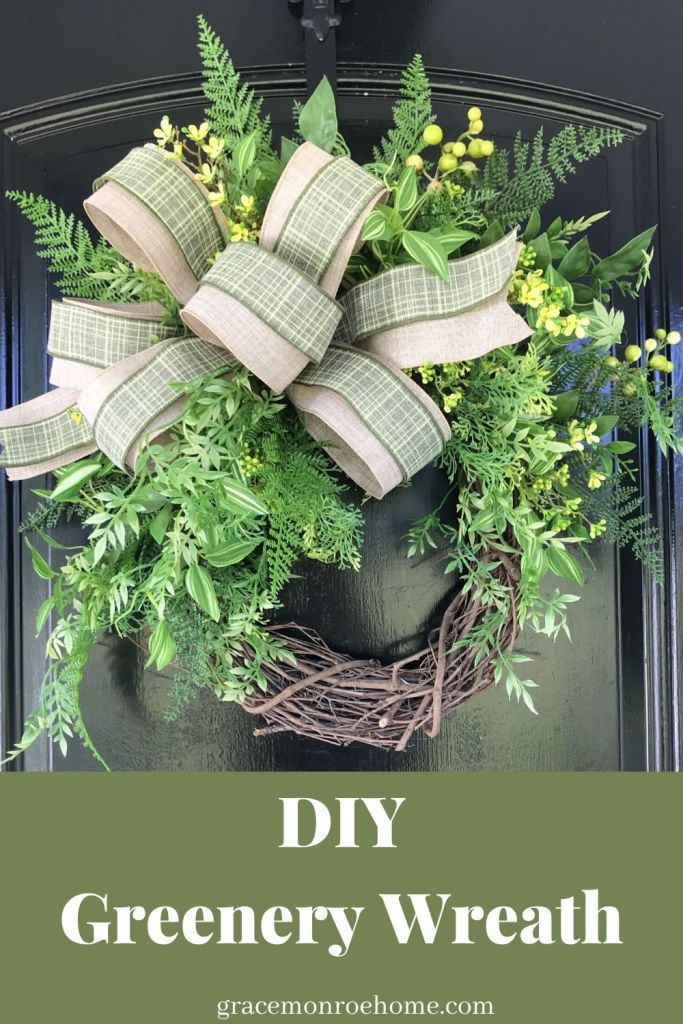 Greenery Wreath Tutorial for Your Front Door