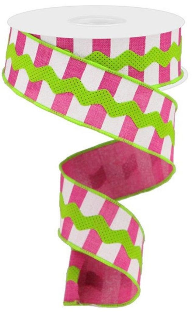 Hot Pink & Lime Green Ribbon