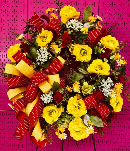 Red & Yellow Wreath