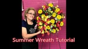 Red & Yellow Summer Wreath Tutorial