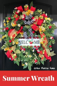 Beautiful Summer Wreath with Strawberry Sign