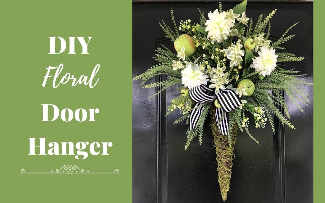 DIY Floral Door Hanger